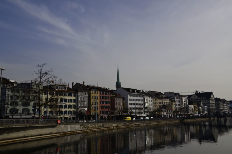 Charming architecture along the Limmat River