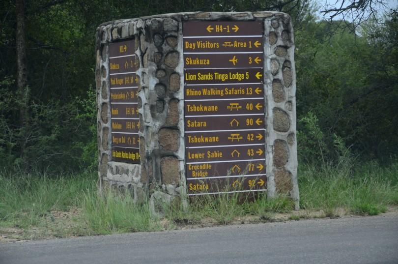 Kruger road signs